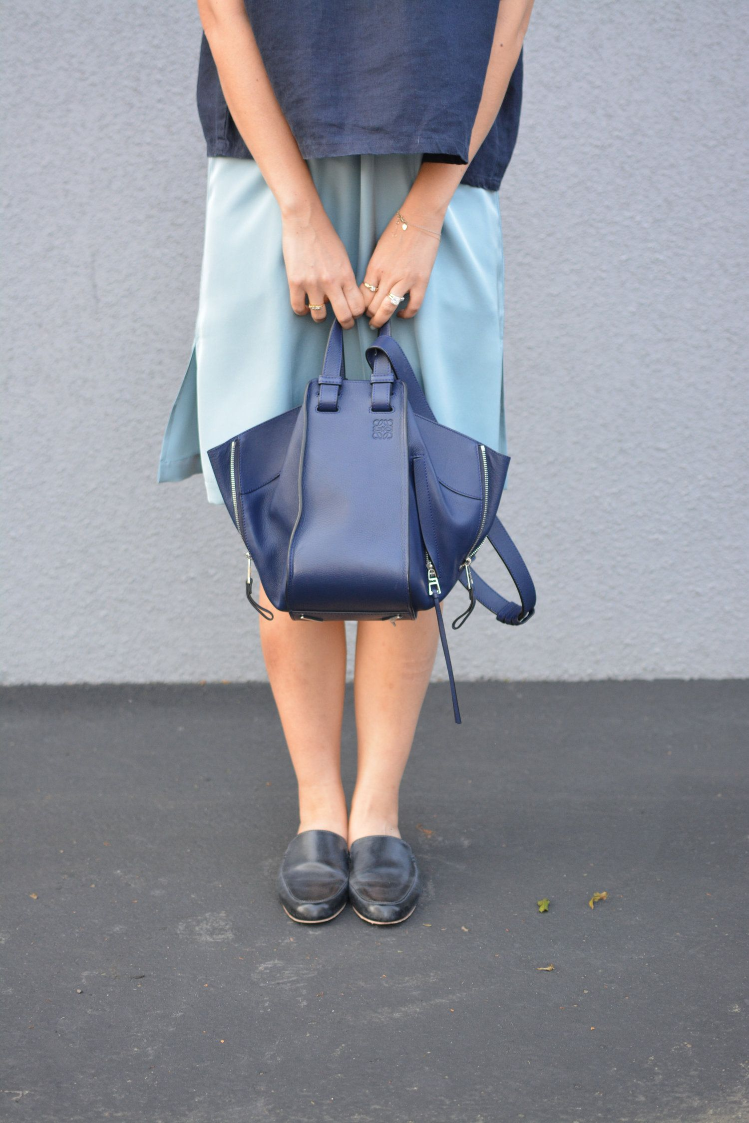 Bolso Azul Marino Y Hamaca Loewe 0pzqyMptw