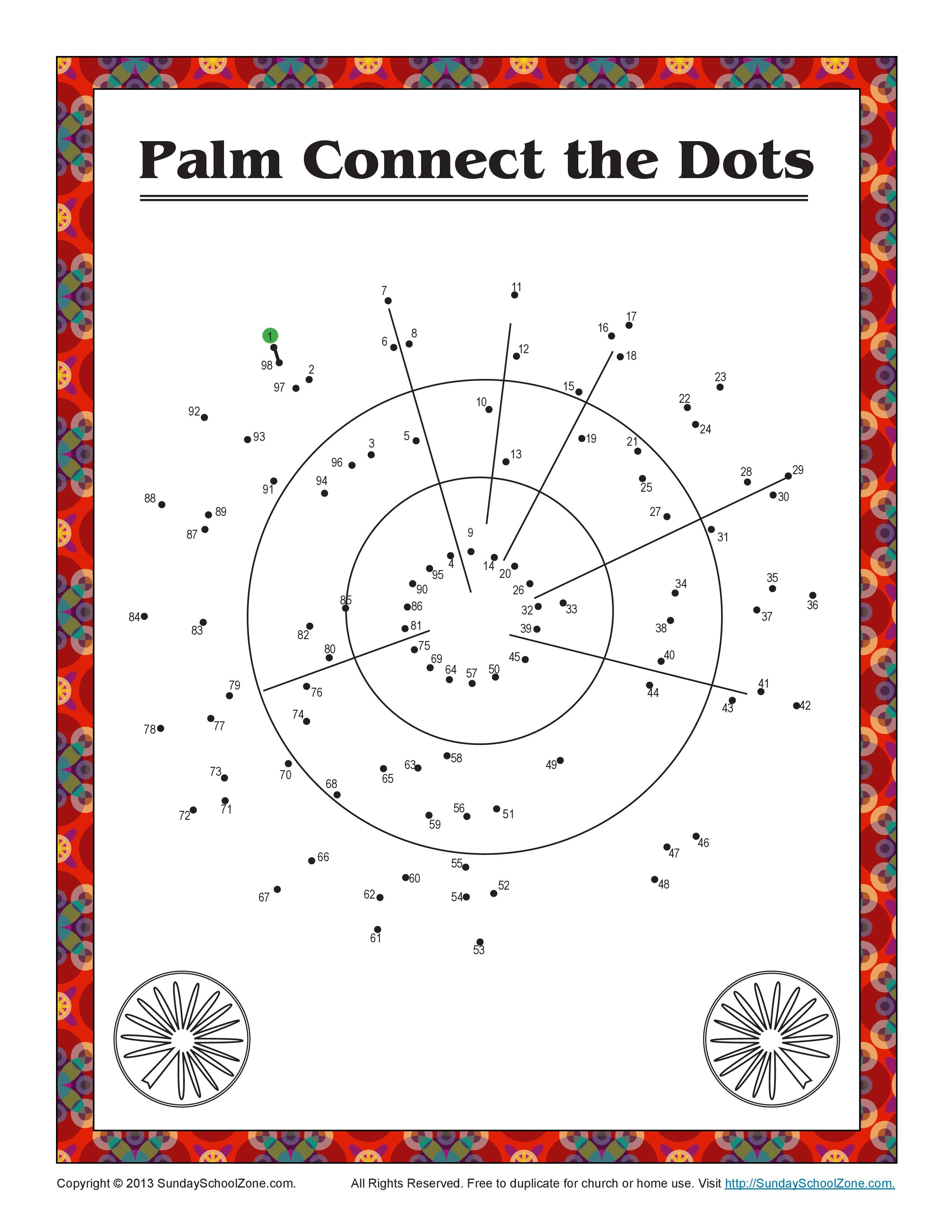 Palm Sunday Connect The Dots Bible Activity On Sunday