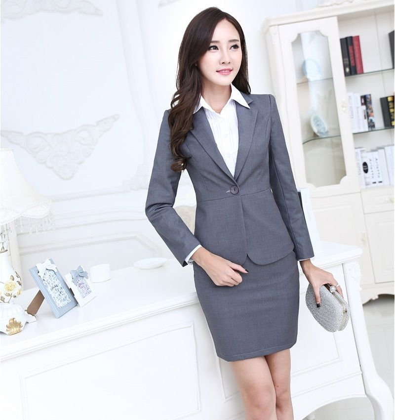 e6ca560ac67a Plus Size 3XL Professional Formal OL Styles Work Wear Suits With Tops And  Skirt Spring Autumn