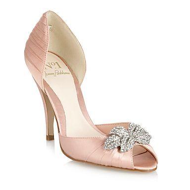 Blush pink shoes, Bridal shoes