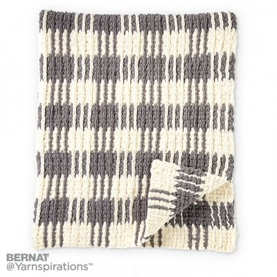 Crochet Gingham Plaid Afghan, Crochet Pattern   Yarnspirations FREE ...
