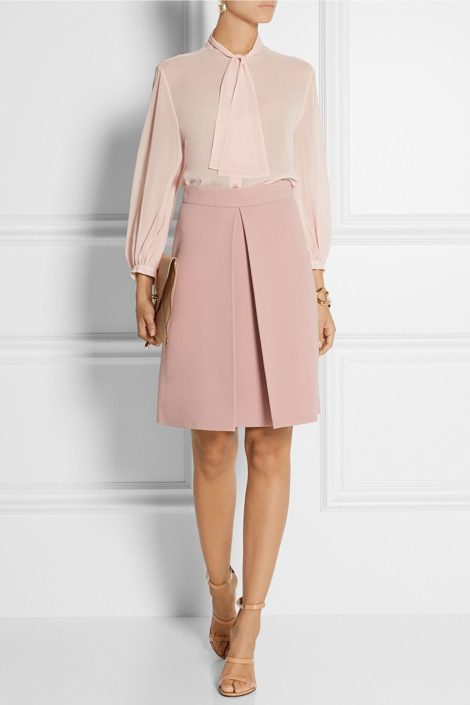 Gucci | Pleated crepe skirt | NET-A-PORTER.COM | Outfits I like or ...