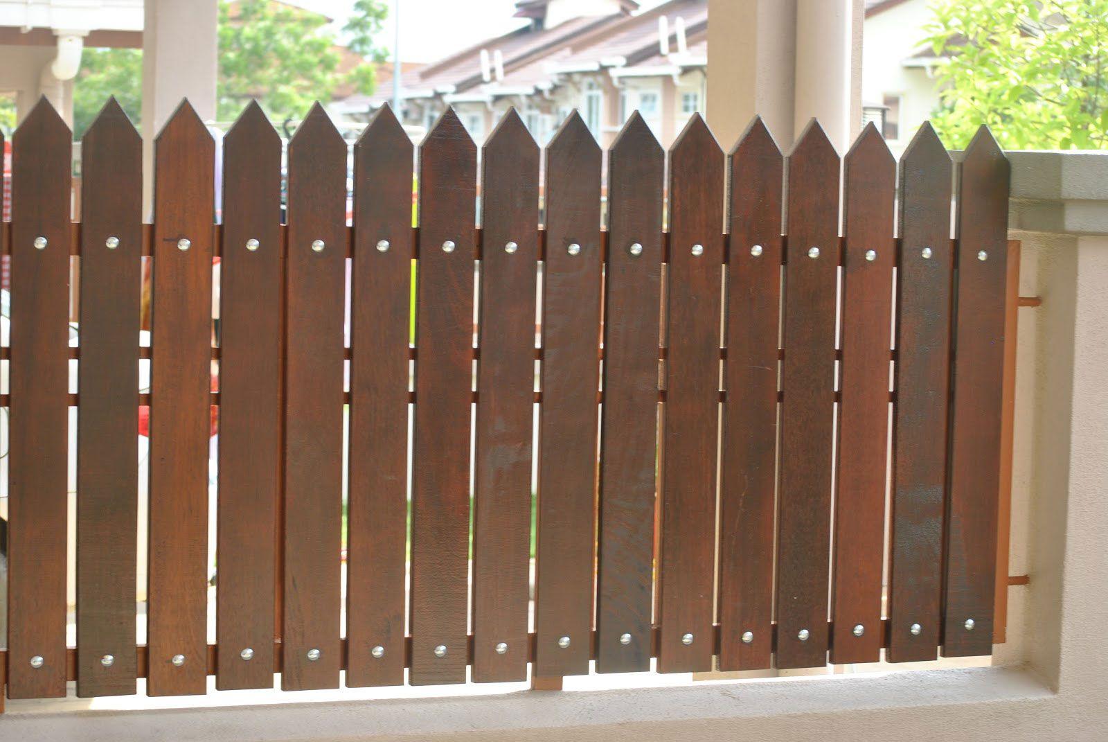 70 Model Pagar Rumah Minimalis (Kayu Dan Besi) - Dalam Membangun Sebuah  Rumah, Pagar Merupakan Satu Komponen Yang Cukup Pe… | Pagar Kayu, Rumah  Minimalis, Ide Pagar