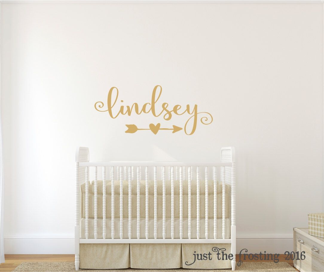 Gold Decor Gold Wall Decal Wall Decal Nursery Monogram Wall - Monogram wall decal for nursery