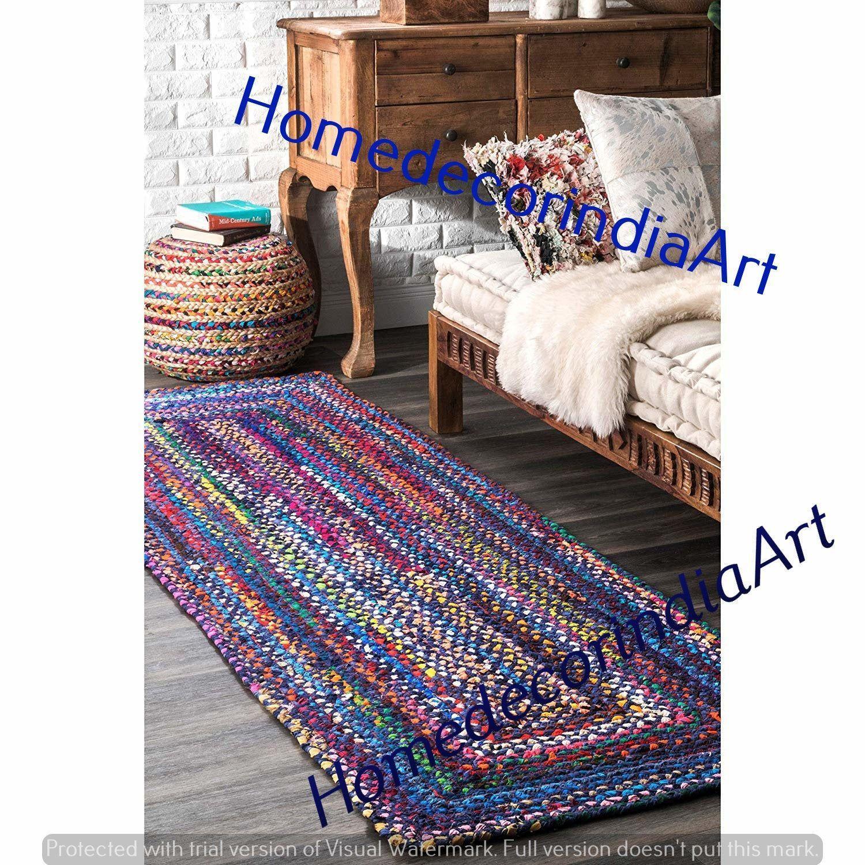Cotton Rug Runner Braided Runner Rug Rag Rug Meditation Mat Rug Runner Bohem Bohem In 2020 Rugs On Carpet Braided Rug Diy Braided Rugs