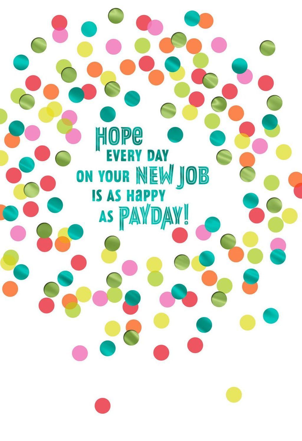 happy thoughts new job congratulations card