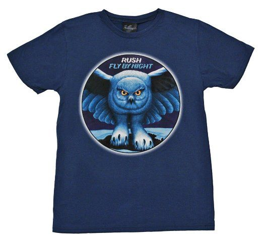 Amazon.com: Rush Fly By Night Album Cover Band Adult T-Shirt Tee Select Shirt Size: Medium: Clothing
