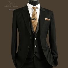 black and gold mens suit - Google Search | Suits | Pinterest