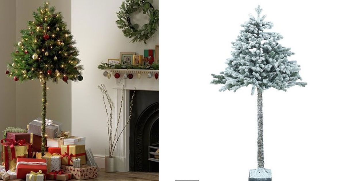 Argos Selling Half Christmas Trees To Stop Toddlers Or Pets Destroying The Decorations Half Christmas Tree Christmas Tree Tree