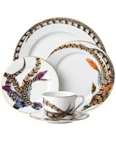 Pheasant Feathers Ralph Lauren Carolyn Style Dinnerware For Tables With An International Excitement Insp Ralph Lauren Home Luxury Tableware Dinnerware Set