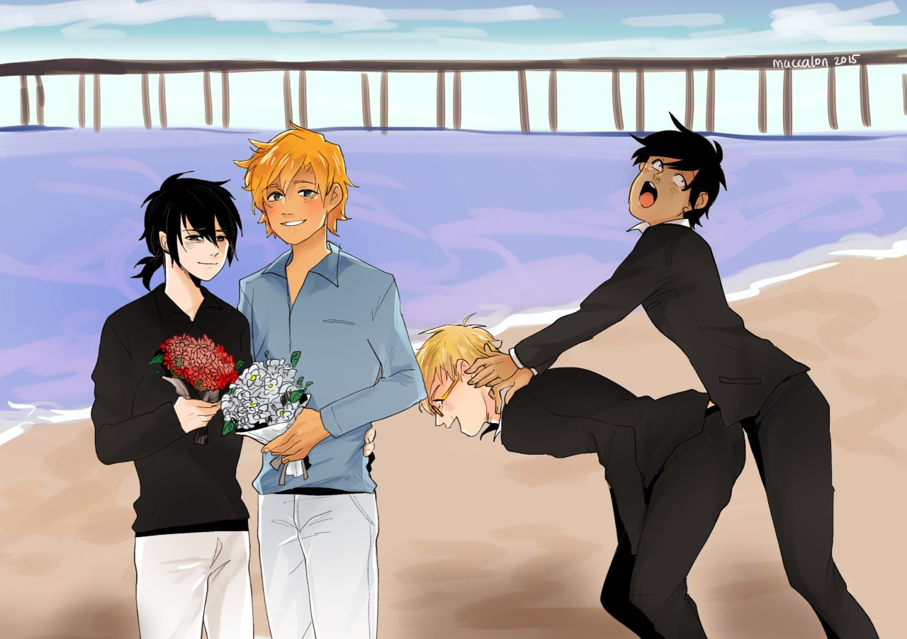 Nico di Angelo, Will Solace, Jason Grace & Percy Jackson | art by Maccalon | Artwork