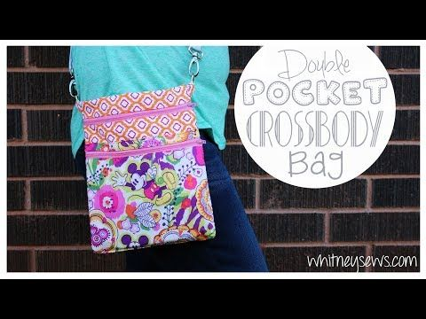 EASY Double Pocket Crossbody Bag   Whitney Sews - YouTube