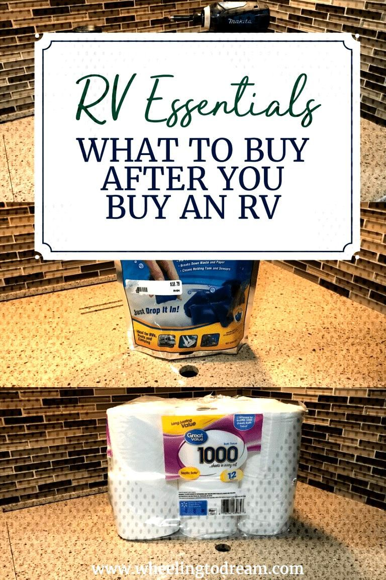 RV Essentials: What to Buy After You Buy an RV - Wheeling To Dream