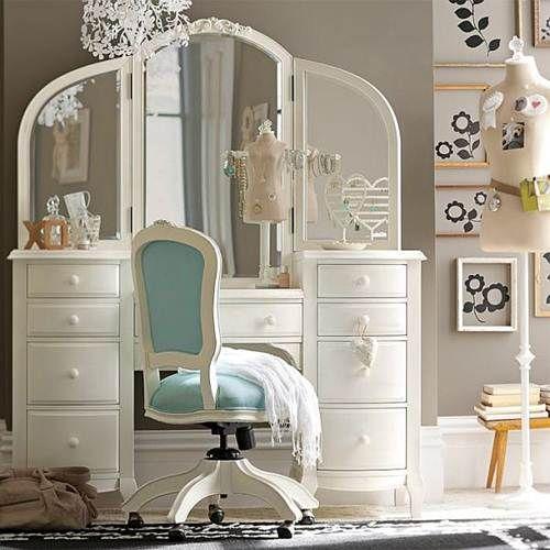 elegant bedroom vanity teenage girls rooms furniture (love the grey