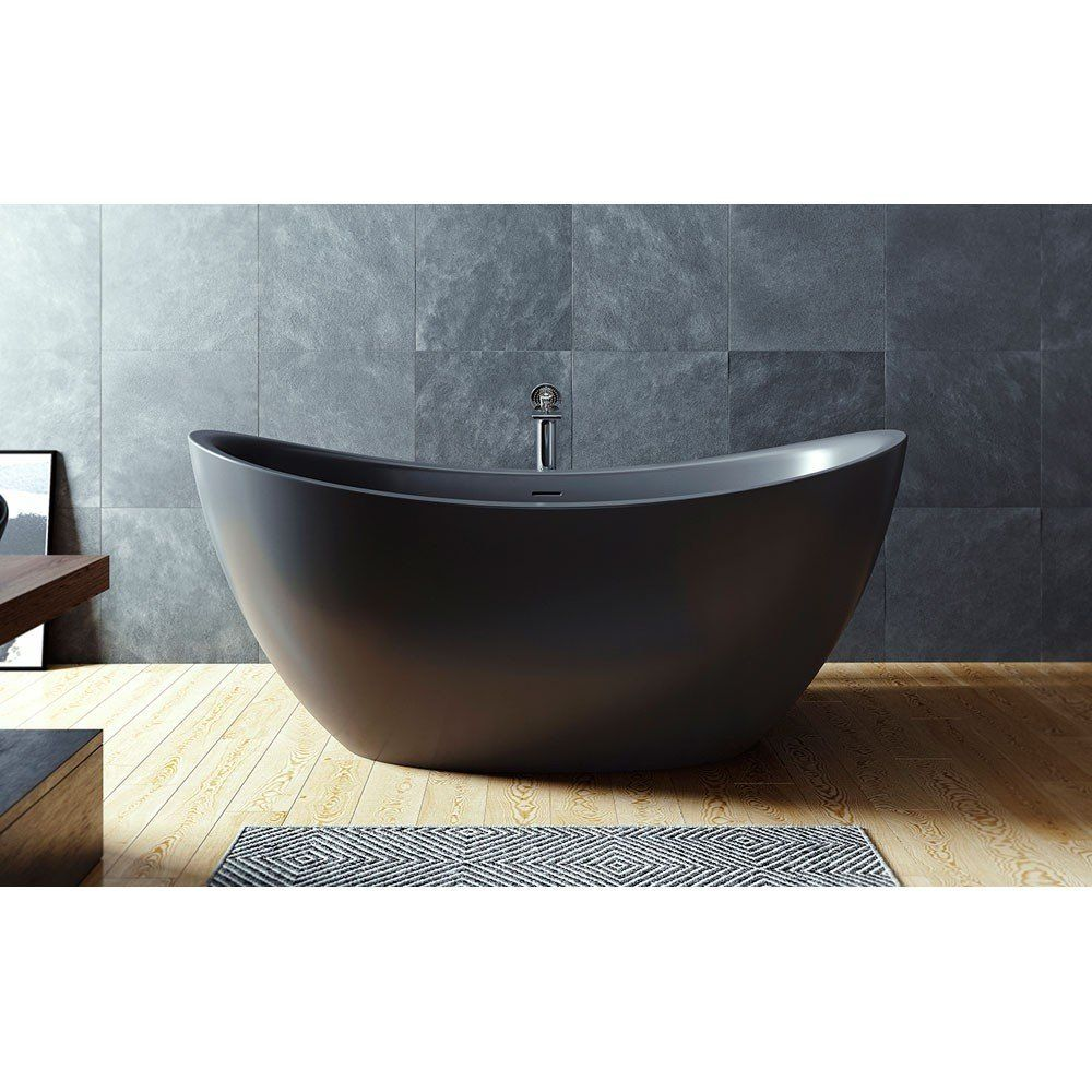Purescape 171 72 Inch Freestanding Solid Surface Bathtub With