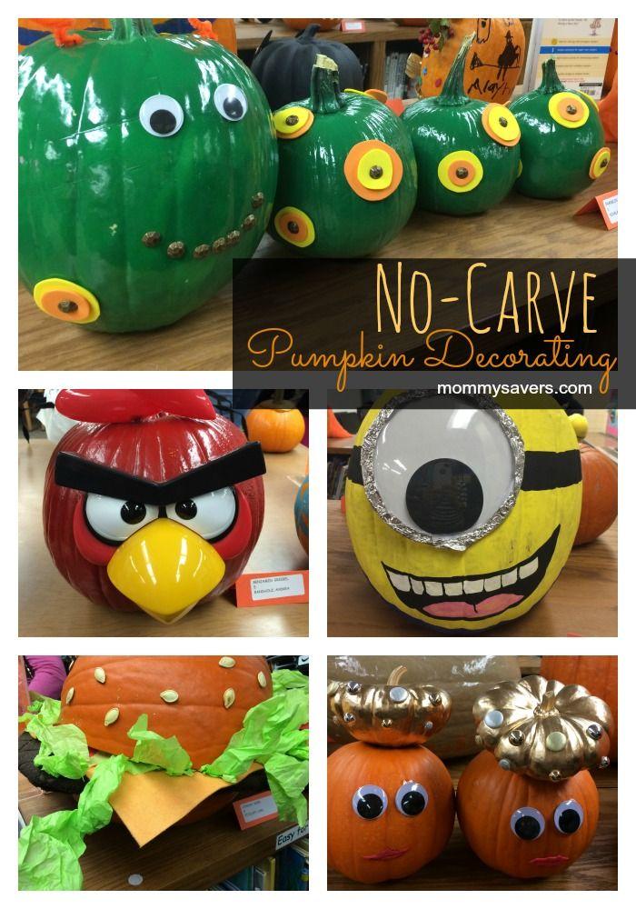 No-carve pumpkin decorating ideas for Halloween #halloween #pumpkins - Mommysavers.com  sc 1 st  Pinterest & No-carve pumpkin decorating ideas for Halloween #halloween #pumpkins ...