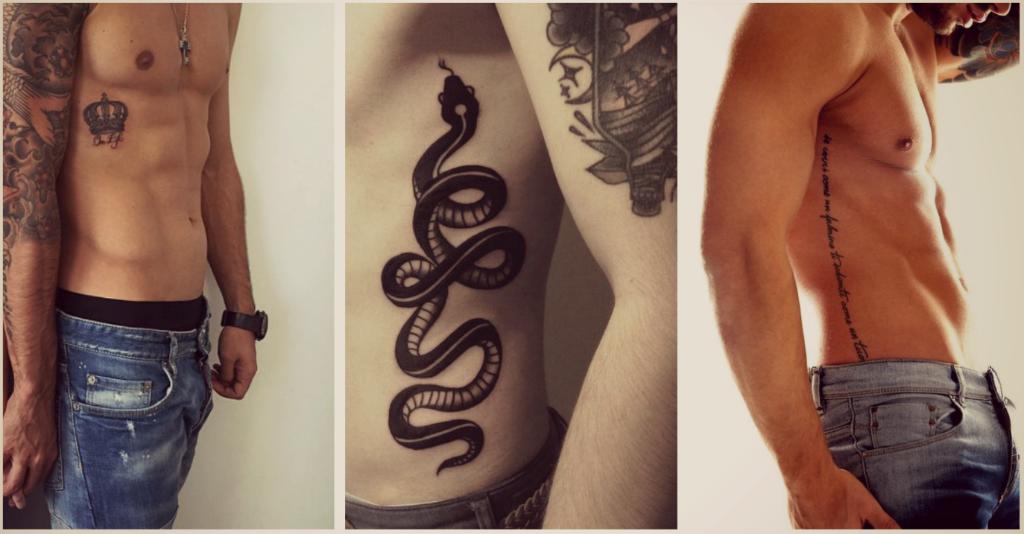 Tatuajes En Las Costillas Para Hombres Serpientes Tablero Jesus