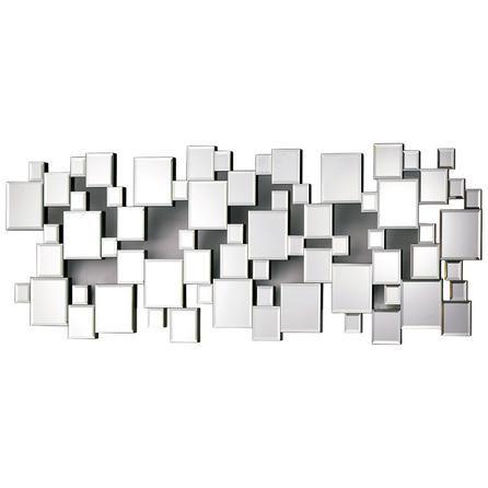 Silver Hotel Squares Mirror