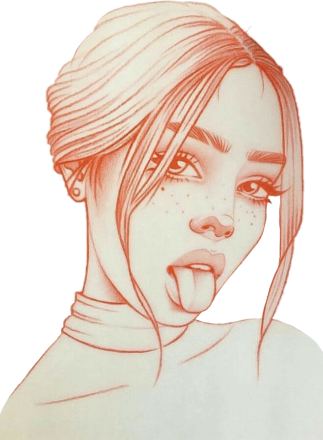Chica Mujer Dibujo Dibujos Sticker By Mundo Kawaii In 2020 Art Drawings Sketches Drawings Art Sketches