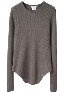 updated with a lovely hemline, carven, rib knit sweater