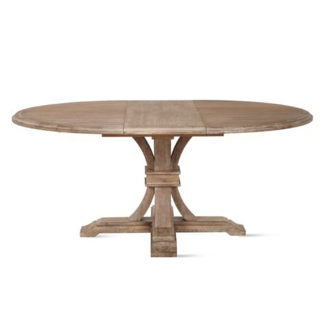 Archer Wash Oak Extending Pedestal Dining Table In 2019