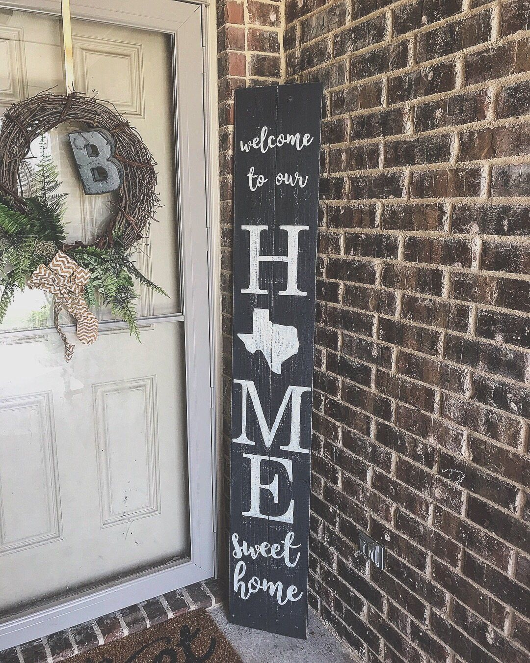 6ft Welcome To Our Home Sweet Home Tx Porch Sign Porch Signs Patio Signs Christmas Decor Diy
