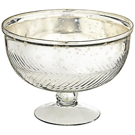 Large Glass Decorative Bowls Awesome With A Feathery Pattern And Footed Base This Large Decorative Inspiration