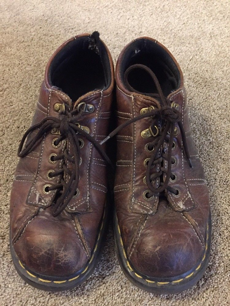 Doc Dr. Martens Men's Shoes Brown Leather Lace Up #9764 Size US 11 #