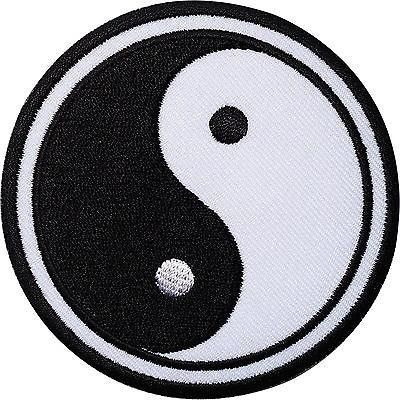 Yin Yang Symbol Logo Collection Iron or Sew on Embroidered Patch Badge