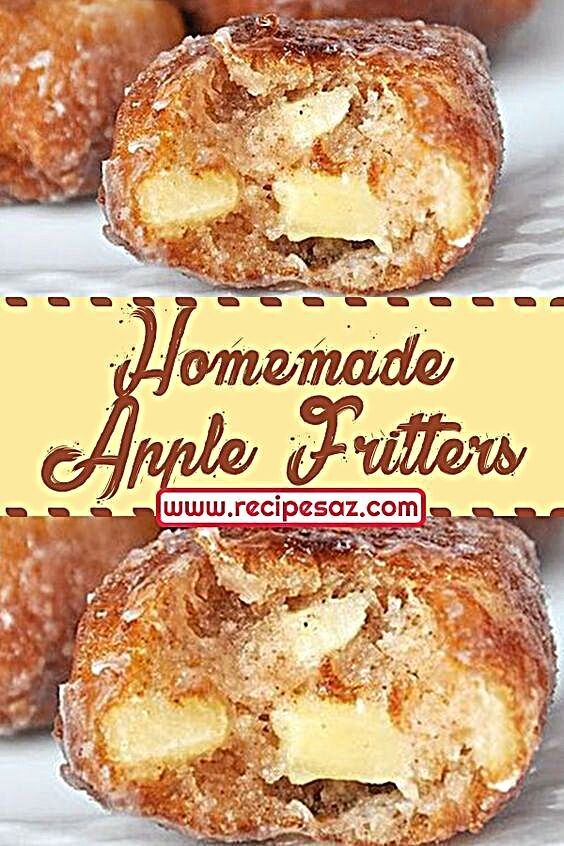 Homemade Apple Fritters Recipe - easy desserts recipes #dessert #deesserts #dessertsrecipes #dessertrecipes #applefritters #fritters #apple #homemade #recipes #homemade #yummy #tasty #recipesaz
