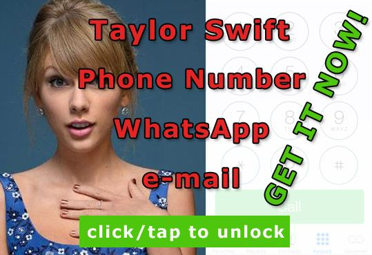 Pin Od Celebrities Leaks Na Taylor Swift Phone Number Pinterest