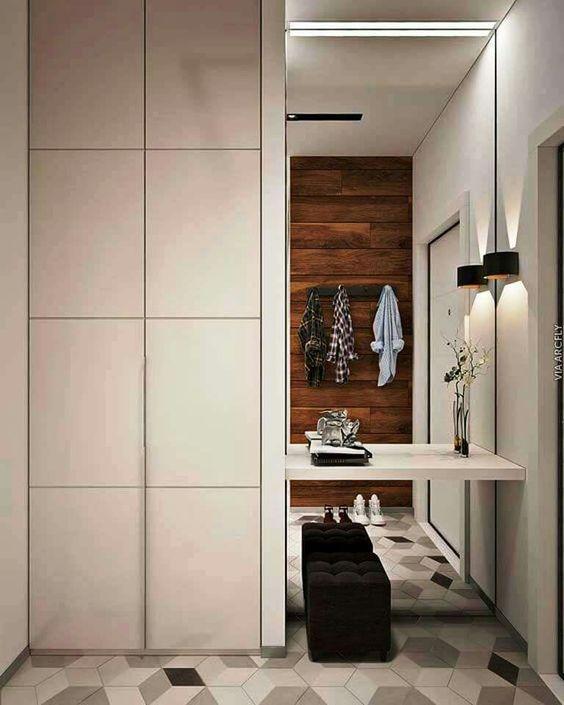 Fotos de recibidores con espejo recibidores decorados for Recibidores modernos ikea