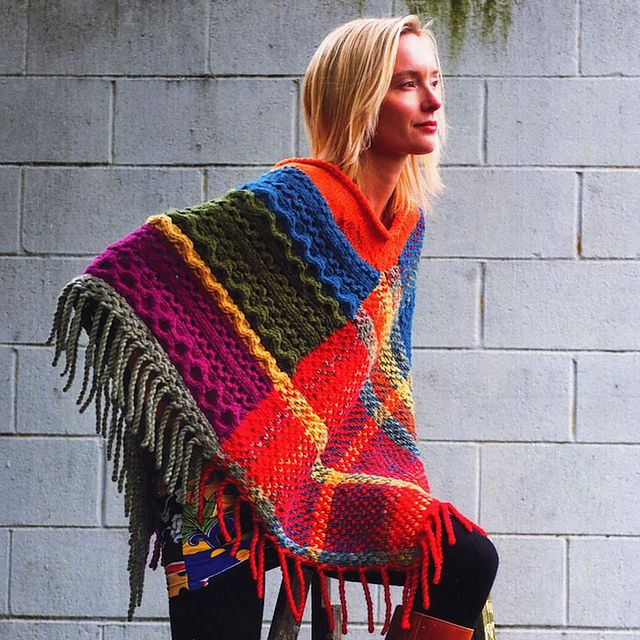 Ravelry: Imperial Cable & Plaid Poncho pattern by Annie Modesitt ...