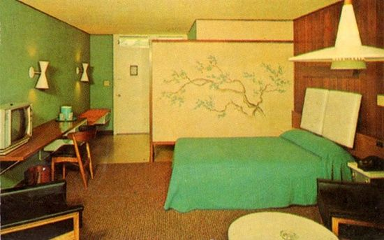 1960s motel room i love the 60 39 s hospitality motels for Vintage hotel decor
