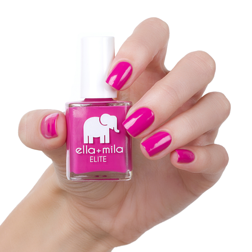Summer Roam-Ance Ella + Mila Nail Polish | Pink nails, Dark pink ...
