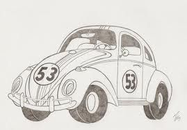 Herbie Bugs Drawing Love Bugs Bug Coloring Pages