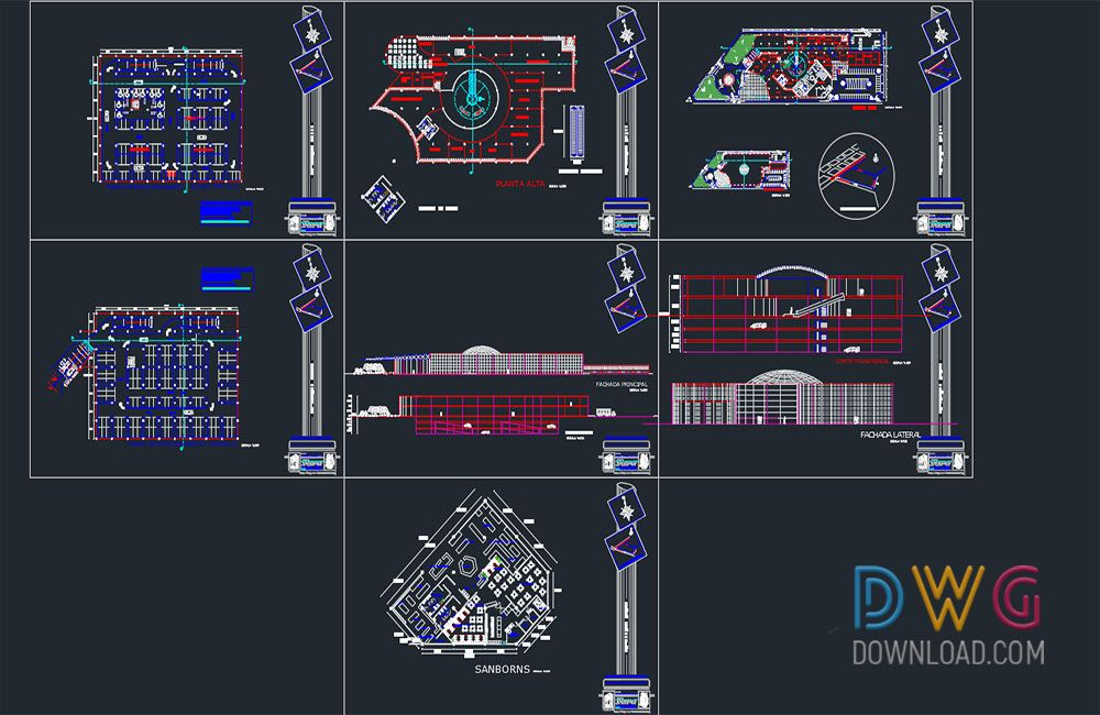 Dwg Download Shopping Mall Dwg