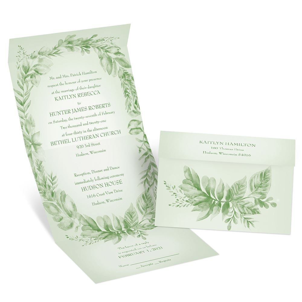 Naturally delicate seal and send invitation beautiful wedding