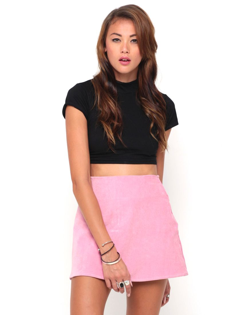 Motel Annie A Line Mini Skirt in Powder Pink, TopShop, ASOS, House ...