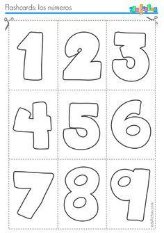 Flashcards para aprender los números, hoja 1…