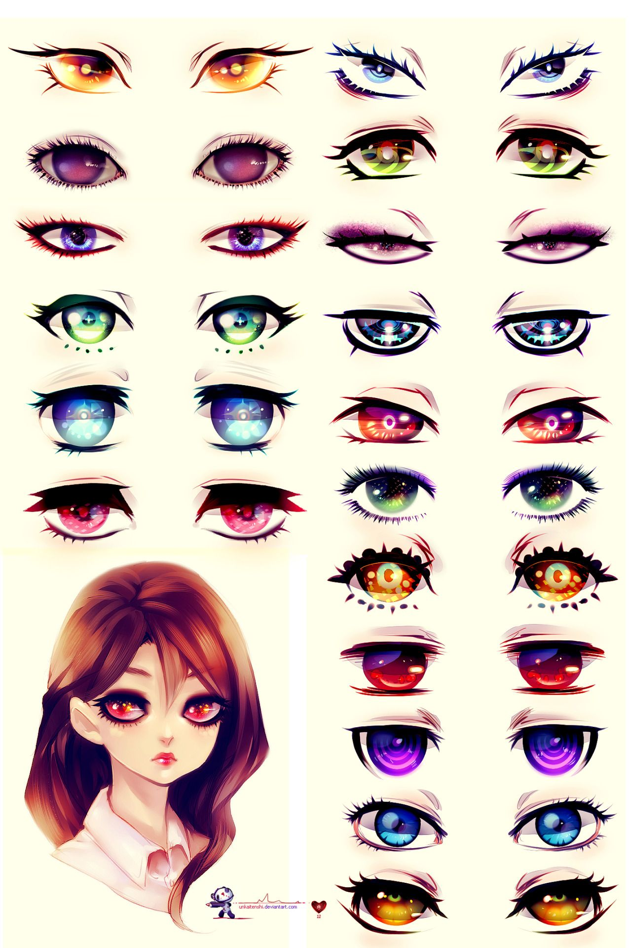 Anatoref Manga Eyes Top Image Row 2 Left Right Row 3