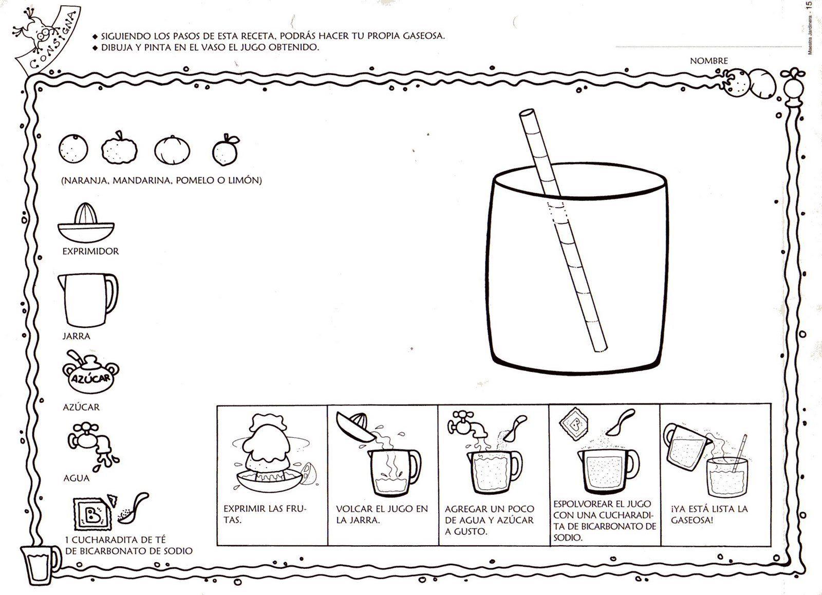 Poesias con pictogramas para colorear buscar con google - Imagenes de cocinas para imprimir ...
