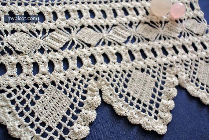 MyPicot   Free crochet patterns   puntillas a crochet   Pinterest ...