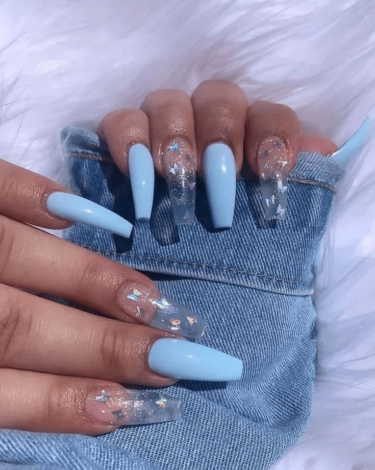 Latest Acrylic Coffin Nails To Try Out Darlingnaija In 2020 Blue Acrylic Nails Best Acrylic Nails Nails After Acrylics