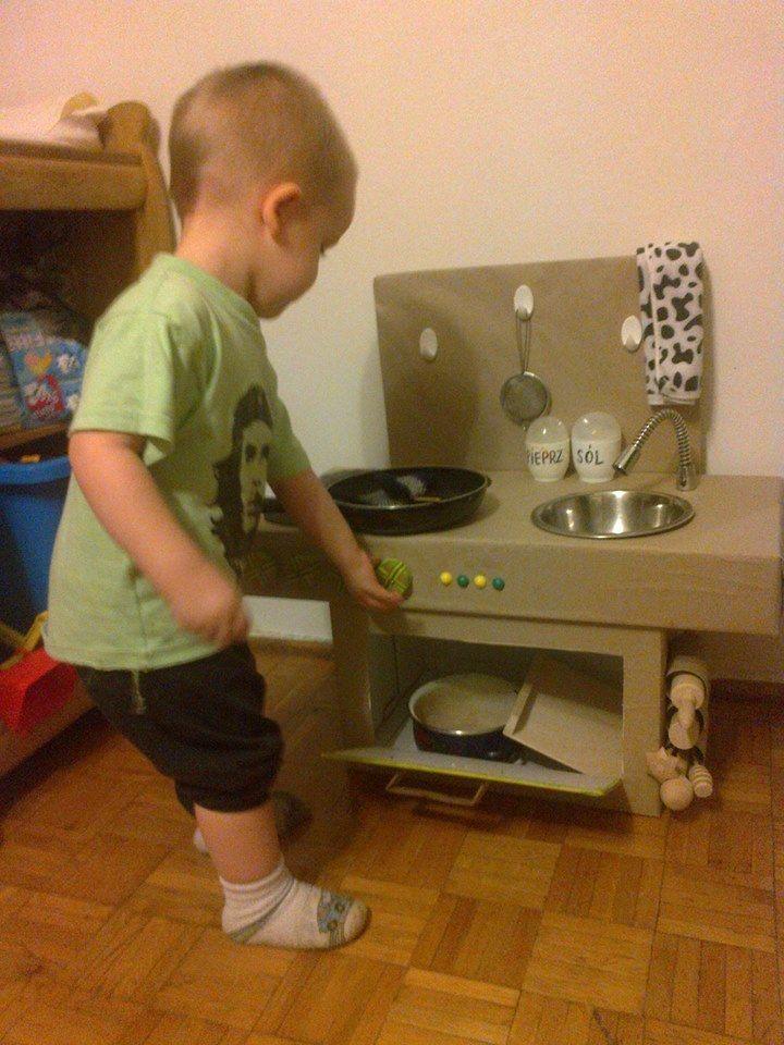 Tekturowa Kuchenka Kuchnia Z Kartonu Hand Made Zabawy