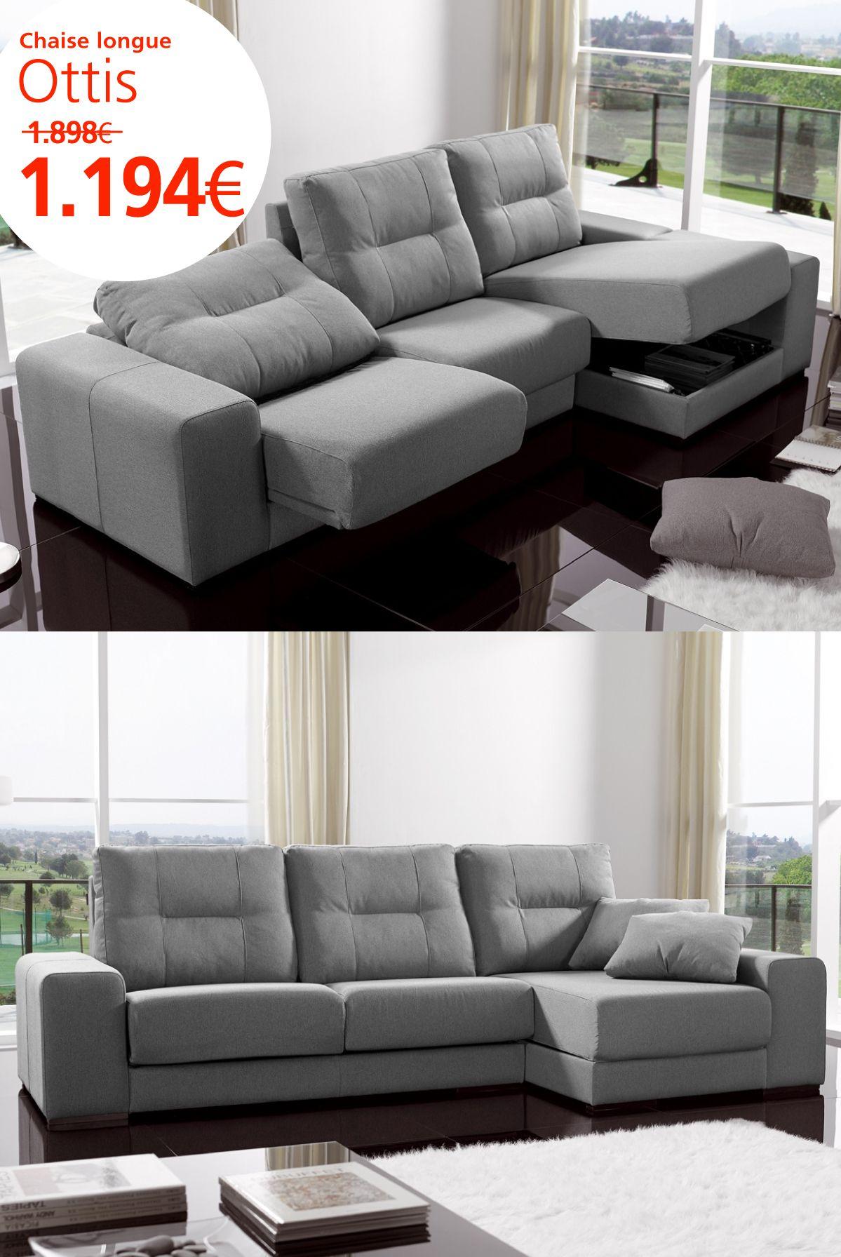 Chaise longue Ottis ▻ bit.ly/1uXVn6v #sofa #chaiselongue ...