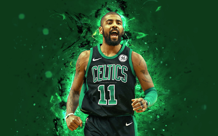 Download wallpapers Kyrie Irvin, 4k, abstract art, NBA