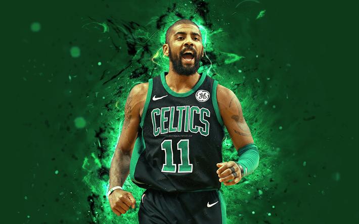 Download Wallpapers Kyrie Irvin 4k Abstract Art Nba Basketball Stars Boston Celtics Irvin Neon Lights Basketball Creative Besthqwallpapers Com Boston Celtics Kyrie Irvin Basketball Star