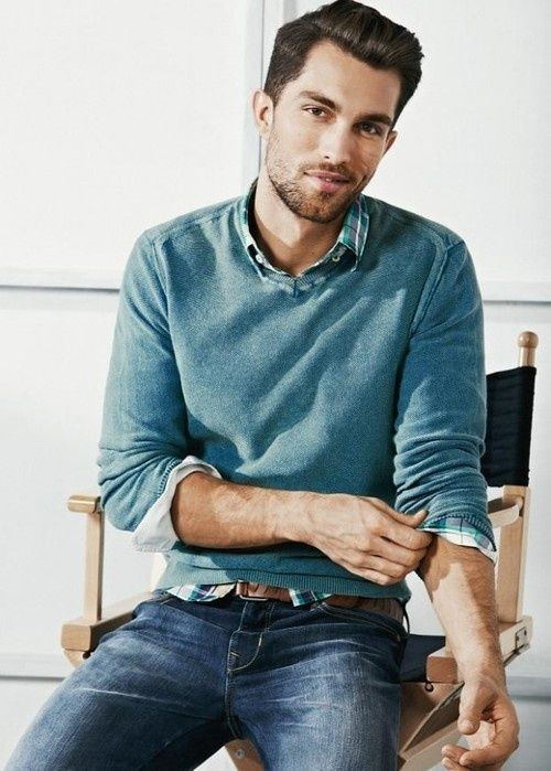 755e56aa3c Light blue #casual #men #fashion #mensfashion #man #outfit #fashion #style # mensfashion #inspiration #handsome #modern #layering