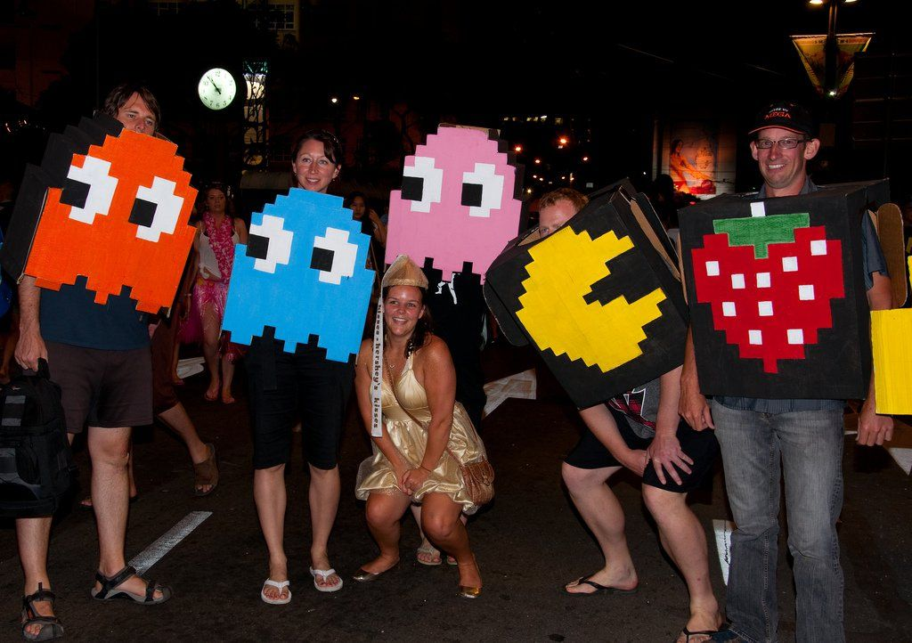 Group halloween costumes hundreds of group costume ideas to buy or pacman and ghosts makes a great group costume for halloween photo by naveg on flickr solutioingenieria Gallery